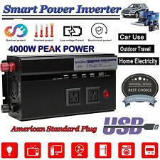 Car Power Inverter DC 12V AC 110V Vehicle Converter Invertor 2000W 4000Watt PEAK