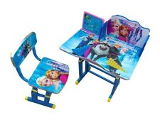Kids Children Home Study ELSA ANNA FROZEN Table Storage Cartoon Desk Chair Set