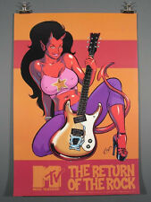 Coop, Devil-Girl MOSRITE Electric Guitar Ventures Semi Mosley Design, Lg. Poster