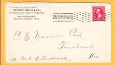 Wetzler Sachs Wholesale Leaf Tobacco Milwaukee Wisconsin 1896 Stamp Guidline z1