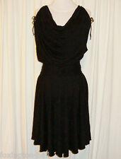 BNWT:ZAC POSEN BLACK COWL NECK FLIP DRESS w/BELT AUS 12,US 6/8
