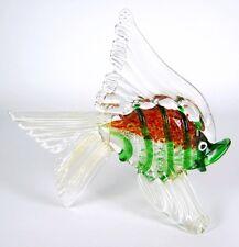 Murano Glas Figur / Fisch Goldstaub Vintage Venetian Glass Figurine / Fish 18cm