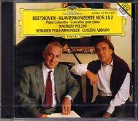 POLLINI & ABBADO: BEETHOVEN Piano Concerto No.1 & 2 DG CD Klavierkonzerte Live