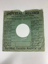 """10"""" 78 RPM Record Sleeve/Imperial Record/Imperial Talking Machine Co"""