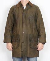 """BARBOUR Gamefair Wax Jacket coat 36"""" Green XS Small (8CJ) UK12 1980's"""