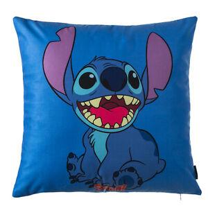 UK NEW Super Soft Cotton Velvet Disney BLUE Stitch Pillow Cushion Cover XRC7