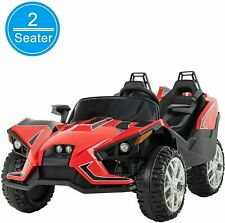 Electric Kids Ride on Toys 12V Battery Racing Car W/RC Light Truck Music Red