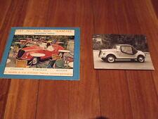 Fiat 500 Gamine brochure & original foto stamped by Carrozzeria Vignale Microcar