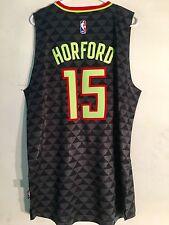 Adidas Swingman 2015-16 NBA Jersey Atlanta Hawks Al Horford Black Alt sz 2X