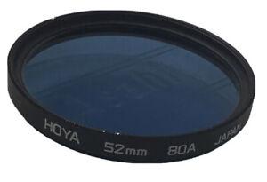 Hoya 52mm BLUE 80A Screw In Filter