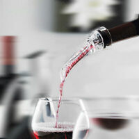 Red Wine Bottle Aerator Decanter Aerating Pourer Spout Bar Accessory Set WU