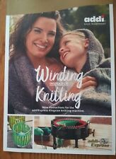 Winding Instead Of Knitting - New Pattern Book for Addi Express King Size
