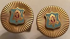 VINTAGE 1960'S LABOR UNION GOLDTONE UNION MADE CUFFLINKS