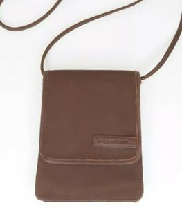 Vintage FOSSIL Crossbody Small Purse With Belt Slide Brown with Leather Trim