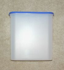 """Tupperware Modular Mate Frosted Container with Blue Lid 11"""" Tall N8"""