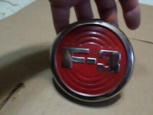 1952 ford pickup truck nos F3 hood side emblem