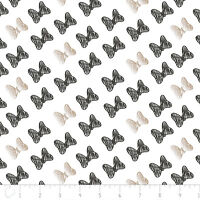 Disney Minnie Bow Black Carbon + Metallic Camelot 100% cotton fabric by the yard