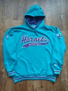 Vintage Hoodie Sweater Starter Charlotte Hornets Men's Size XL