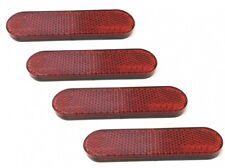 4x Reflektor Katzenauge 96x24mm Rot Selbstklebend E-Geprüft