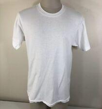 Vintage 90s Fruit of the Loom 100% Cotton Men's M/L Blank White T Shirt Single