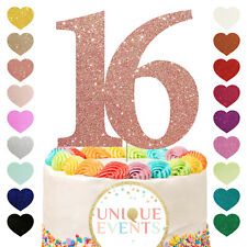 16th Birthday Cake Topper Glitter Any Age Thirty 16th 18th 21st Sixteenth 16