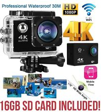 "4K 2"" Ultra HD 1080P WiFi SPORT cam action camera DV Video Recorder 16MP UK HD"