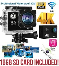 4k 2-Inch Ultra HD 1080p Sports WiFi Cam Action Camera DV HDMI Video Recorder 16mp