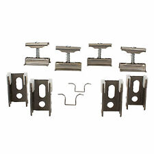 Revive Raw Metal Spare Column Radiator Wall Mounting Brackets, Set of 4