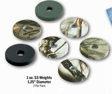 """Stokerized  archery -1.25"""" diameter  Weights - 2 x 1 oz, Black ONLY!"""