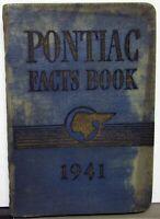 1941 Pontiac Data Facts Book Torpedo Fleet De Luxe Streamliner Custom 41 Dealer