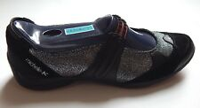 MICHELLE K MOXIE WOMEN'S SLIP-ON SNEAKERS BLACK sz 7.5 NEW AUTHENTIC