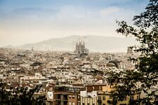BARCELONA SPAIN CITYSCAPE POSTER STYLE B 24x36 HI RES