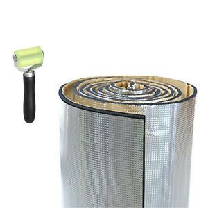 1x1.4m Car Engine Heat Shield Insulation Sound Deadener PE Alumium Shield+Roller