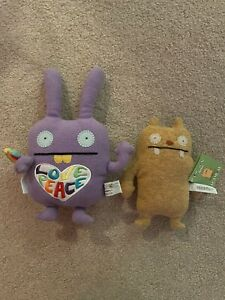 Ugly Dolls Plush Set of 2 Rainbow Wippy and Yellow Jeero