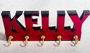 Personalized acrylic Key Ring holder Wall mount holder key chain rack-colors!