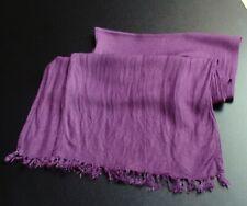 Schal Tuch Damen Girl Mädchen lila pink weiches Material kurze Fransen 140 x 30