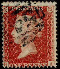 SG42, 1d rose-red PLATE 50, LC14, FINE USED. Cat £40. GA