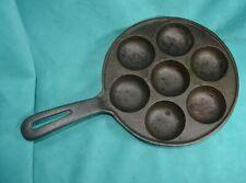 vtg cast iron  Aebleskiver Pancake Pan Skillet Danish  Cookware