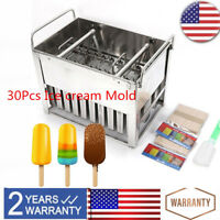 30Pcs Sorbet ice cube ice Cream Mold Popsicle Yogurt Mold Stainless Steel Molds