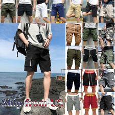 Man's Fashion Casual Cargo Shorts Pants Chino Summer Beach Outdoor Trousers US