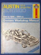 Haynes Owners Workshop Manual Austin Montego 2.0 1984 -1986 1994cc (1712)