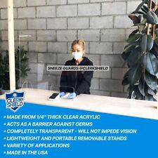 Acrylic Sneeze Guard Barrier Divider Shield Countertop Desktop Checkout