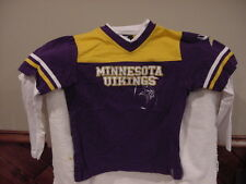 CUTE Minnesota Vikings Girls Sz 10-12 Long Sleeved Reebok Shirt 33c46b878