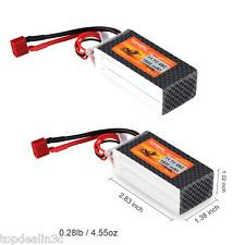 2x FLOUREON 11.1V 1500mAh 3S 45C RC Lipo Akku Batterie Deans für RC Hubschrauber