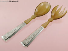 "Salatbesteck ""Silber"" Horn um 1900"