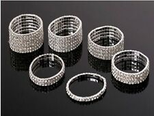 NEW 1-10Rows New Shinning Rhinestone Bangles Elastic Bracelets Women Dress Party