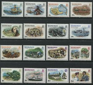 Bahamas 1980 complete set mint o.g. hinged