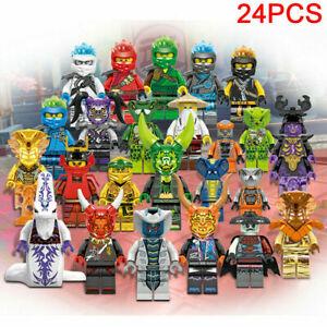 24 Stk Ninjago Mini Figuren Kai Jay Sensei Wu Master Building Blocks Set Toys