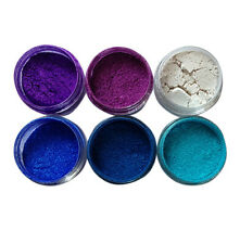 """Peacock"" Nail Additives Mica Pigment Powders Set for Gel Polish, Acrylic + more"
