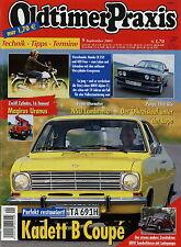 Oldtimer Praxis 9 03 2003 Alpina C1 Fiat 600 Honda CB350 400 Four Magirus Uranus